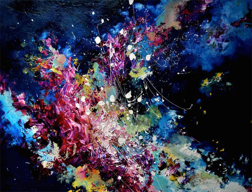 Painted music of Melissa McCracken Radiohead - Lucky