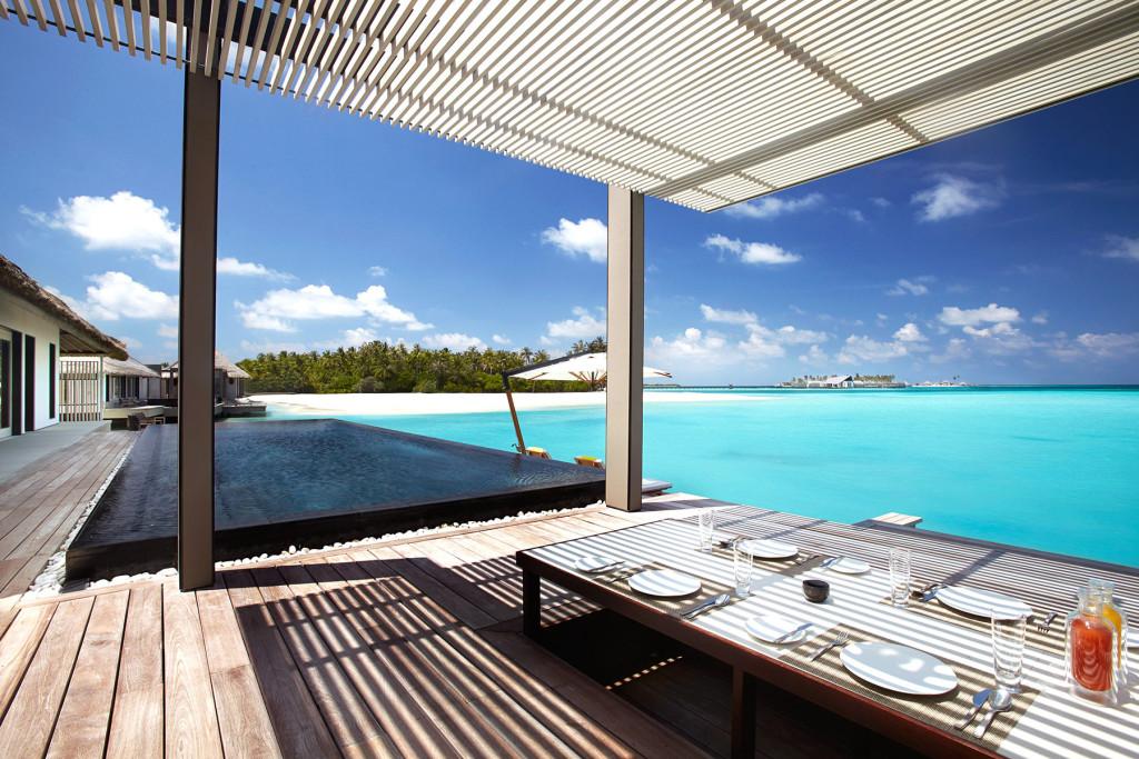 Ланч с видом на океан, Мальдивские острова