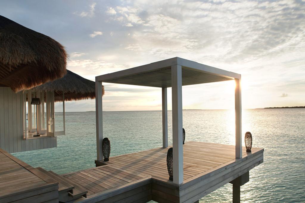 Беседка для релакса и занятий йогой. Мальдивские острова