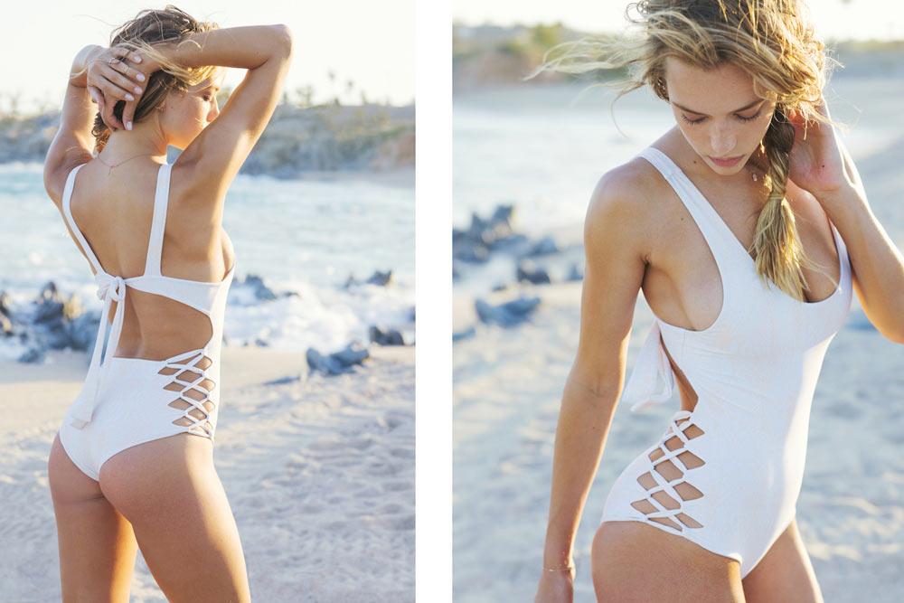 Девушки в бикини, модель Ханна Фергюсон