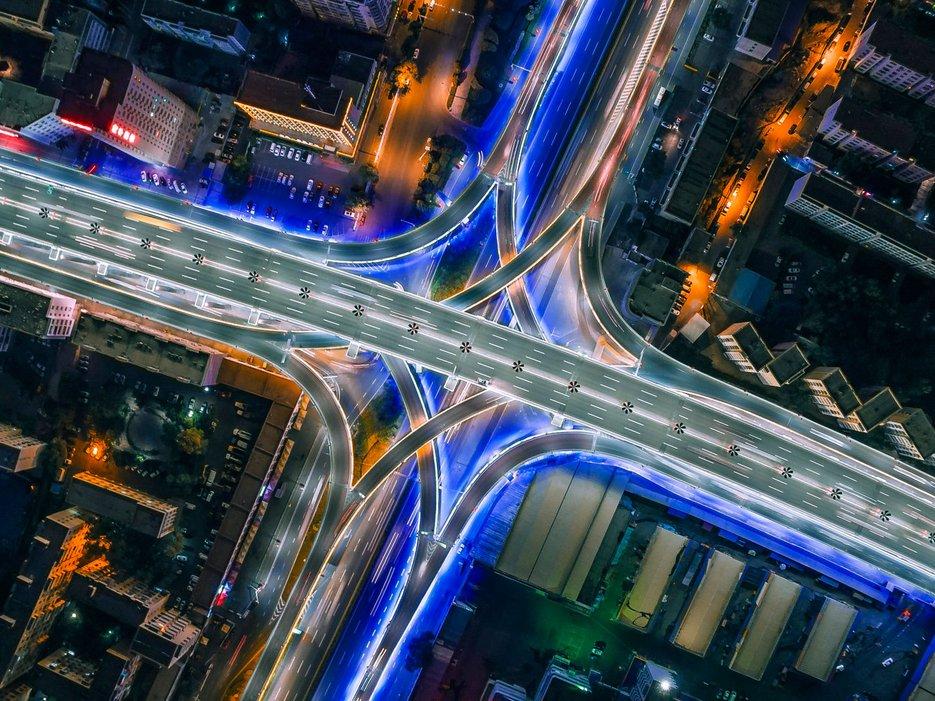 Дорожная развязка, Урумчи, Китай
