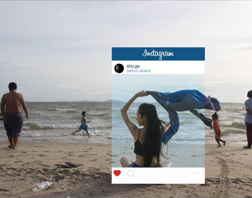 Тайская девушка на пляже. Что за кадром?