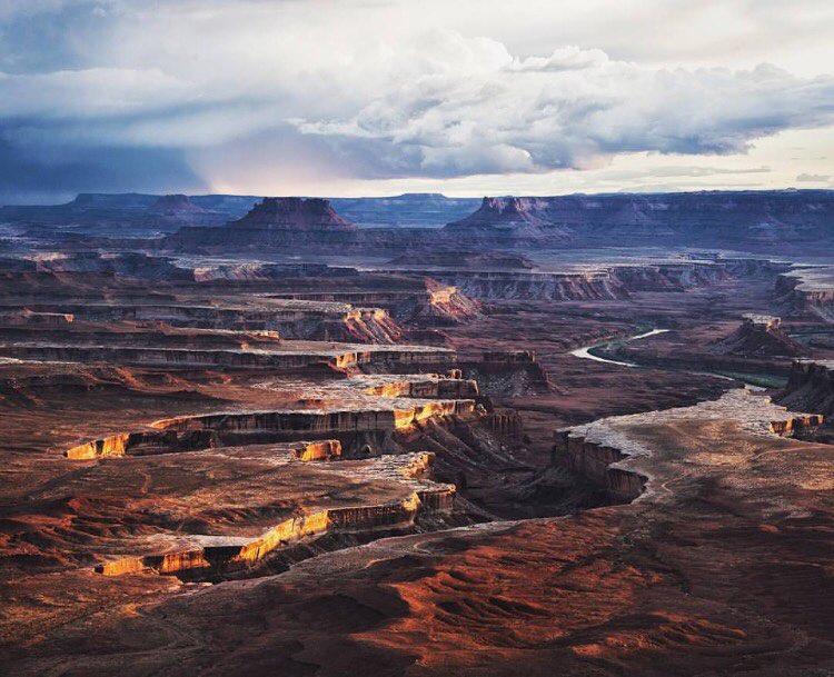 Фото с высоты Canyonlands, Utah, USA