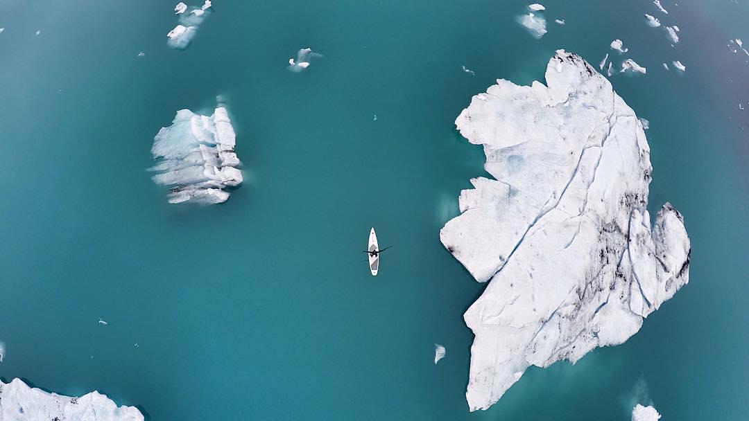Фото с высоты, Исландия