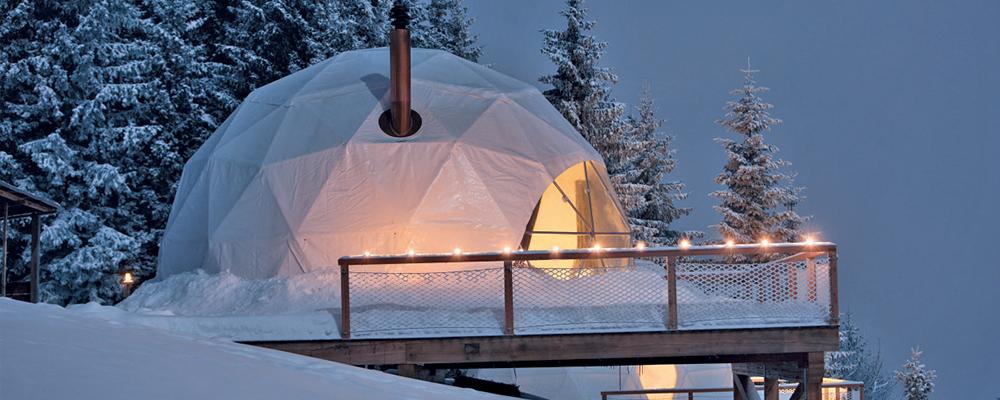 Отель WhitePod в швейцарских Альпах