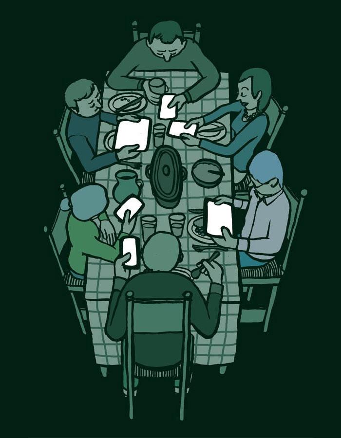 Семейный ужин. Автор Жан Жюльен