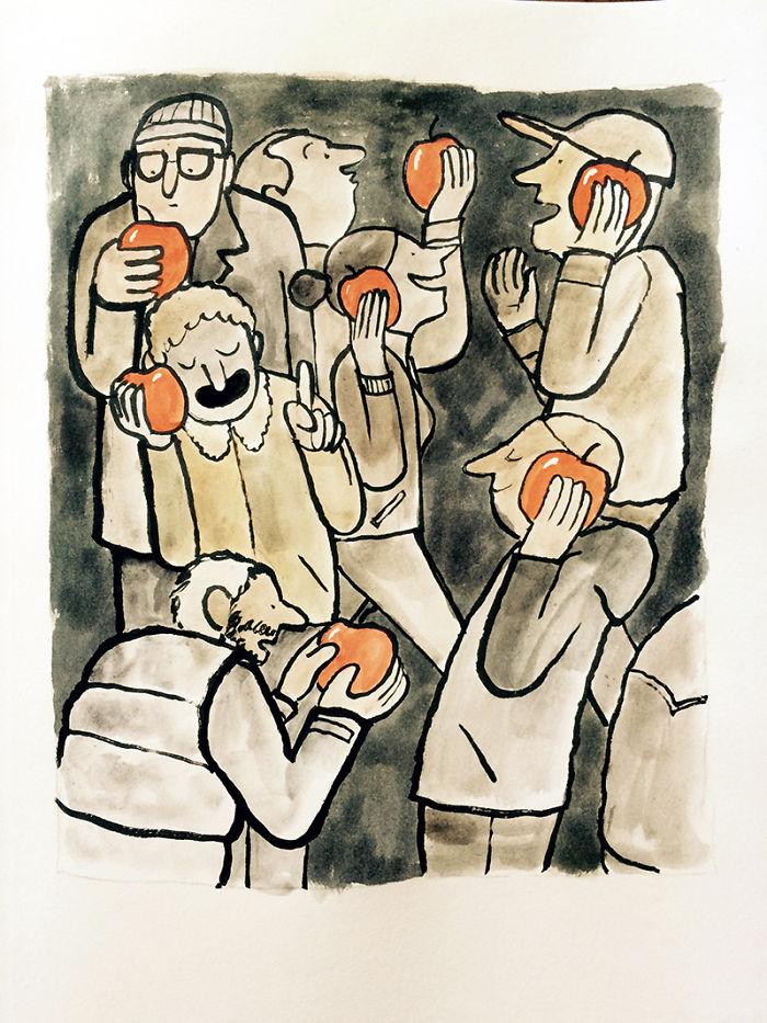 Теперь у всех есть яблоки