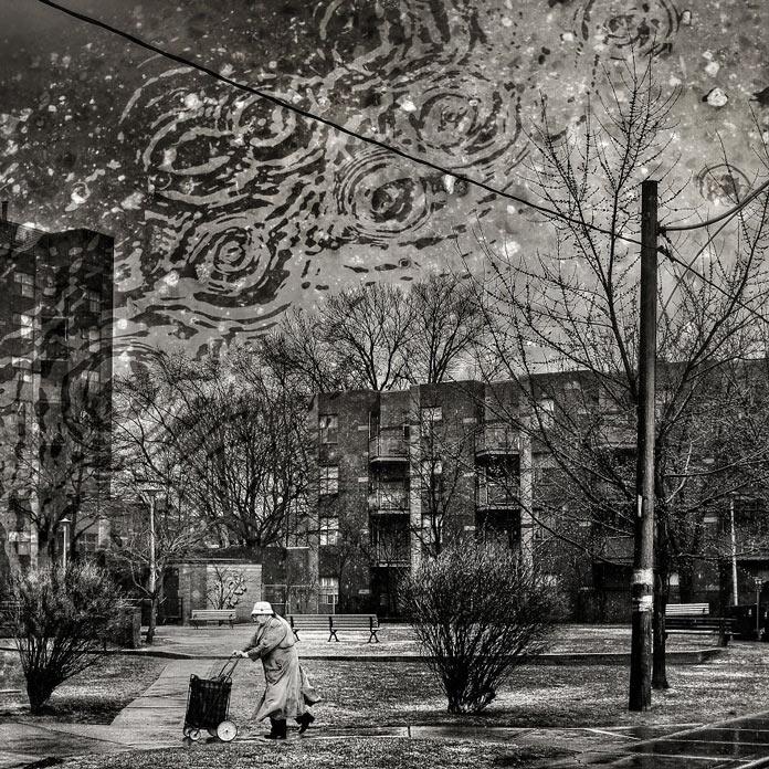 Сюрреалистичные городские пейзажи и портреты методом двойной экспозиции