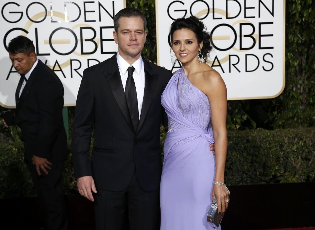 Мэтт Дэймон и его жена Лучана Барросо