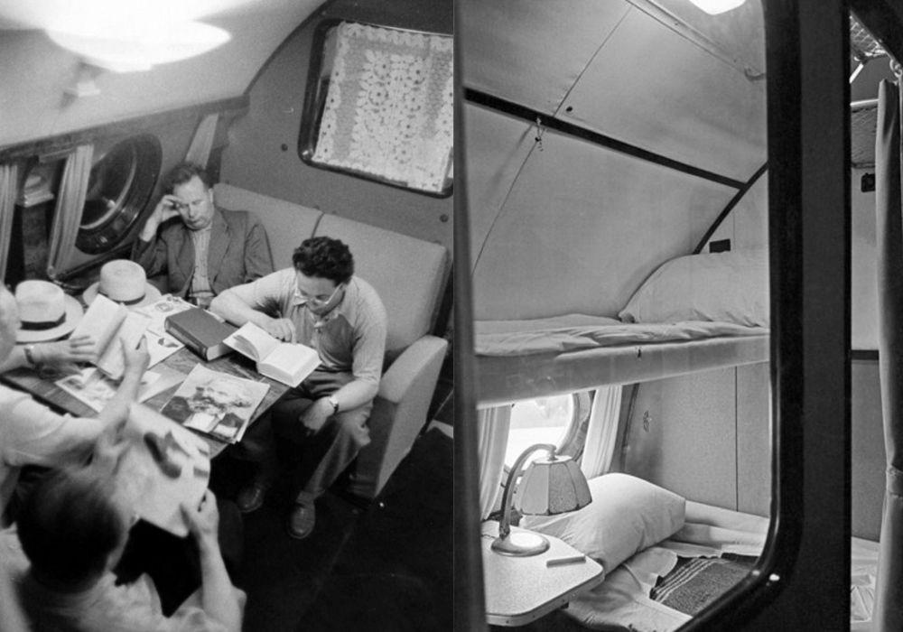 Интерьеры ТУ-114, спальное место для пассажиров первого класса