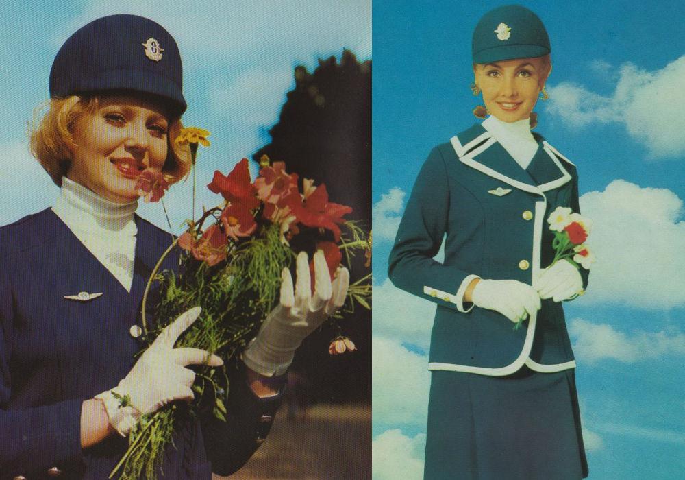Советский бортпроводник на рекламных фотографиях