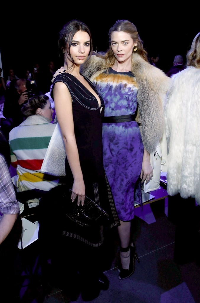 Emily Ratajkowski and Jaime King attend the Altuzarra show