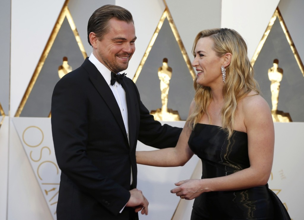 Kate Winslet, nominated for Best Supporting Actress and Leonardo DiCaprio, nominated for Best Actor