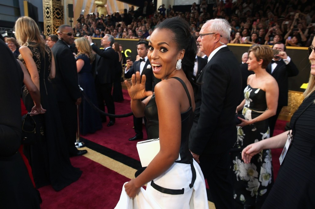 Kerry Washington arrives at the Oscars
