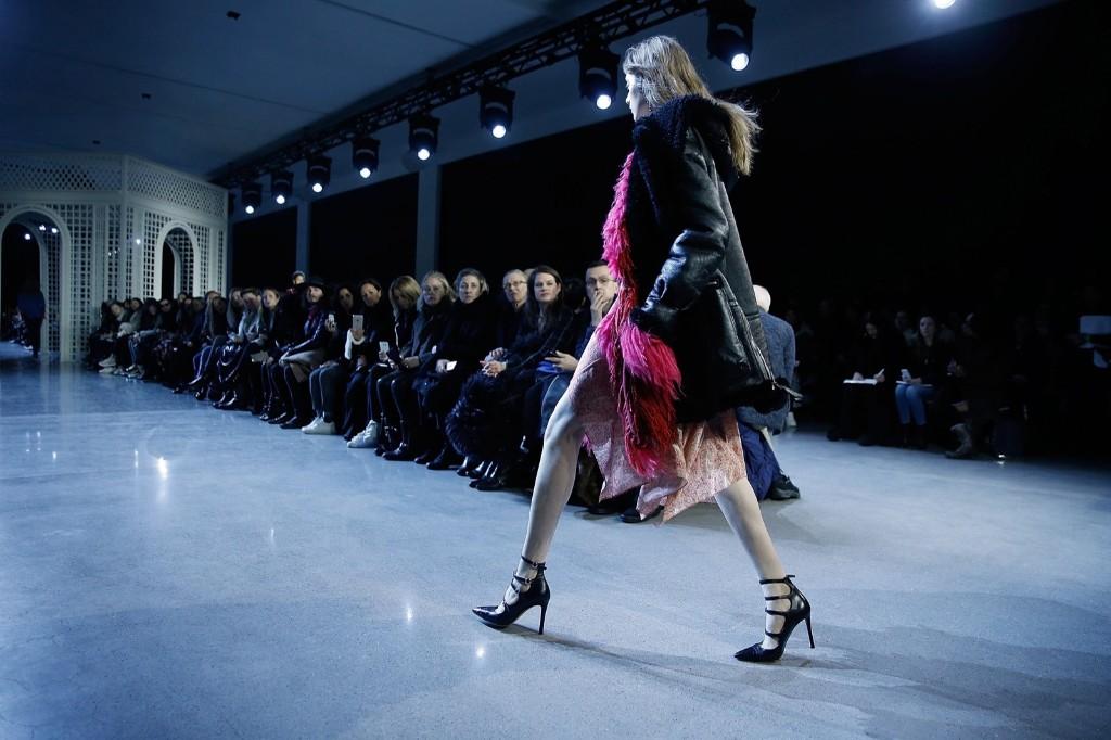 Models walk the runway during the Altuzarra show