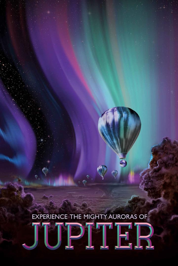 NASA выпустила шутливые плакаты рекламирующие космические туры