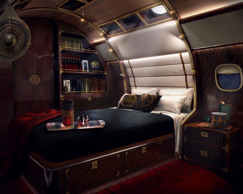 Skyacht One роскошная спальня с душевой и ванной
