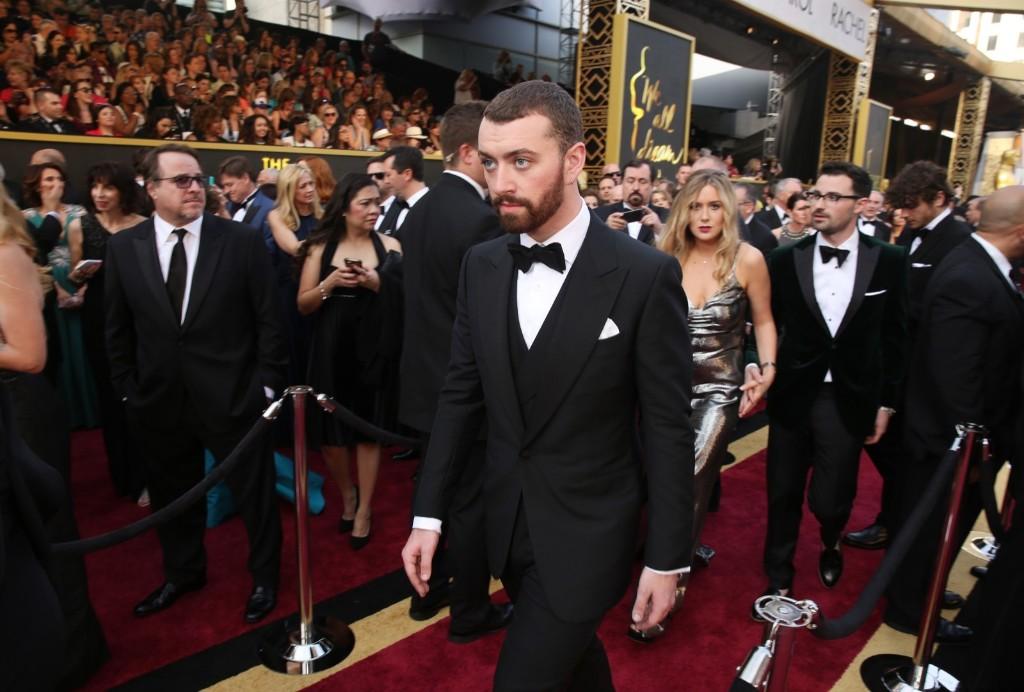 Sam Smith arrives at the Oscars