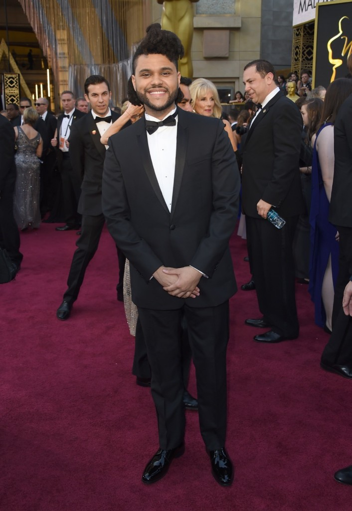 The Weeknd arrives at the Oscars