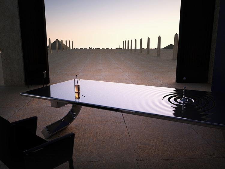 Необычный кофейный столик «Рябь»