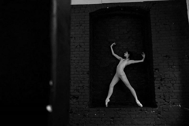 Балерина Оксана Скорик в декорациях, Мариинский театр. Russian Ballet backstage