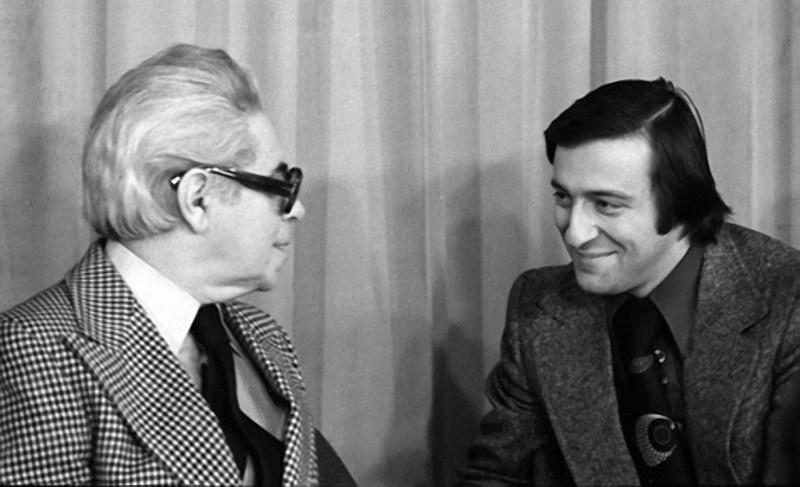 Аркадий Райкин и Геннадий Хазанов 1978 год