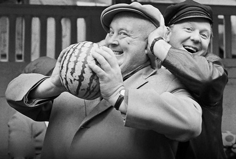 Олег Попов и Евгений Моргунов 1968 год