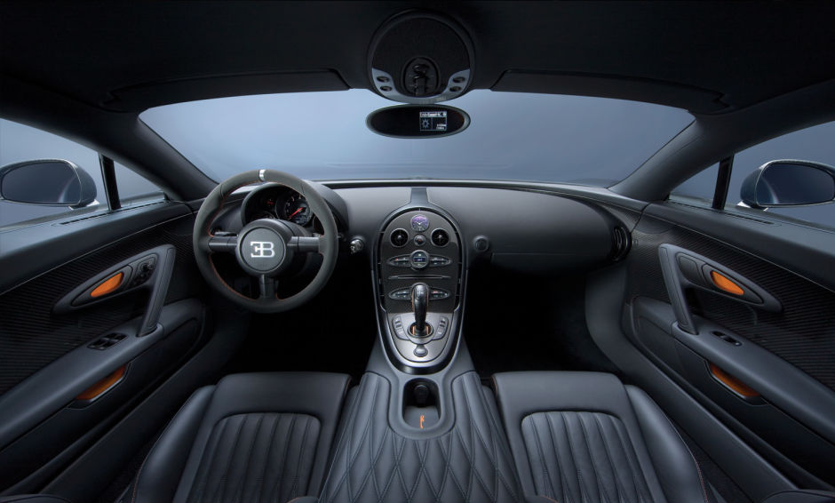 Blacked-Out Bugatti Veyron Super Sport Interior