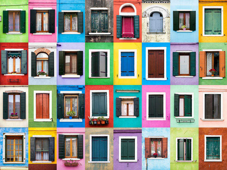 Burano windows by Andre Vicente Goncalves