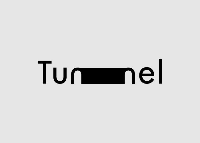 Логотипы из слов со скрытым смыслом. Туннель