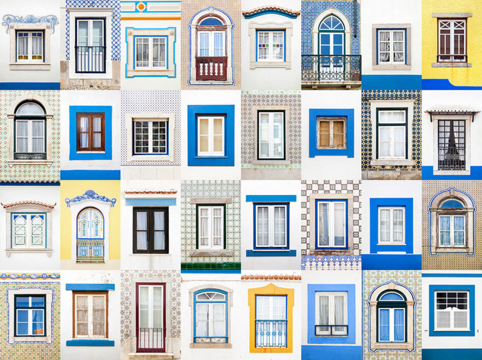 Ericeira windows by Andre Vicente Goncalves