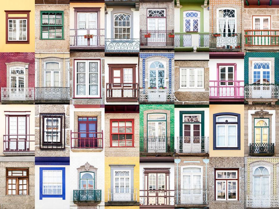 Guimaraes windows by Andre Vicente Goncalves