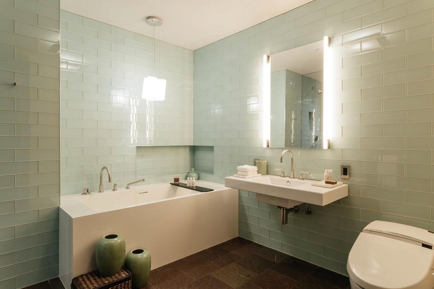 Ванная комната. Jane Street Townhouse II, West Village, New York