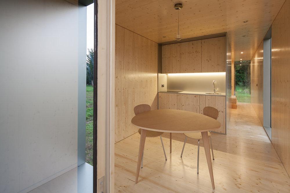 Мини-дом Mima Light, кухня и гостиная