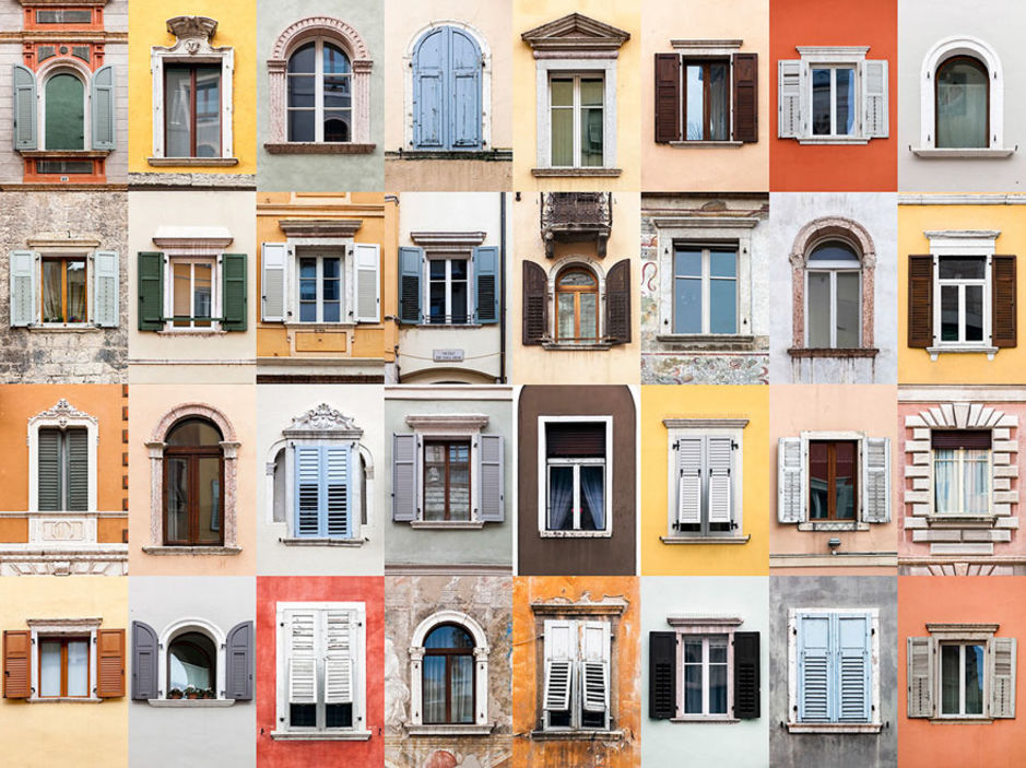 Trento windows by Andre Vicente Goncalves