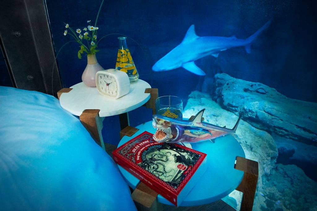 Парижская романтика среди акул в необычной гостинице-аквариуме