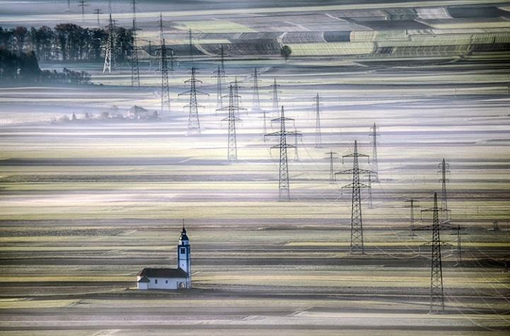 """""""Church on the fields of Soröko Polje"""" by Andrej Tarfila, Slovenia"""