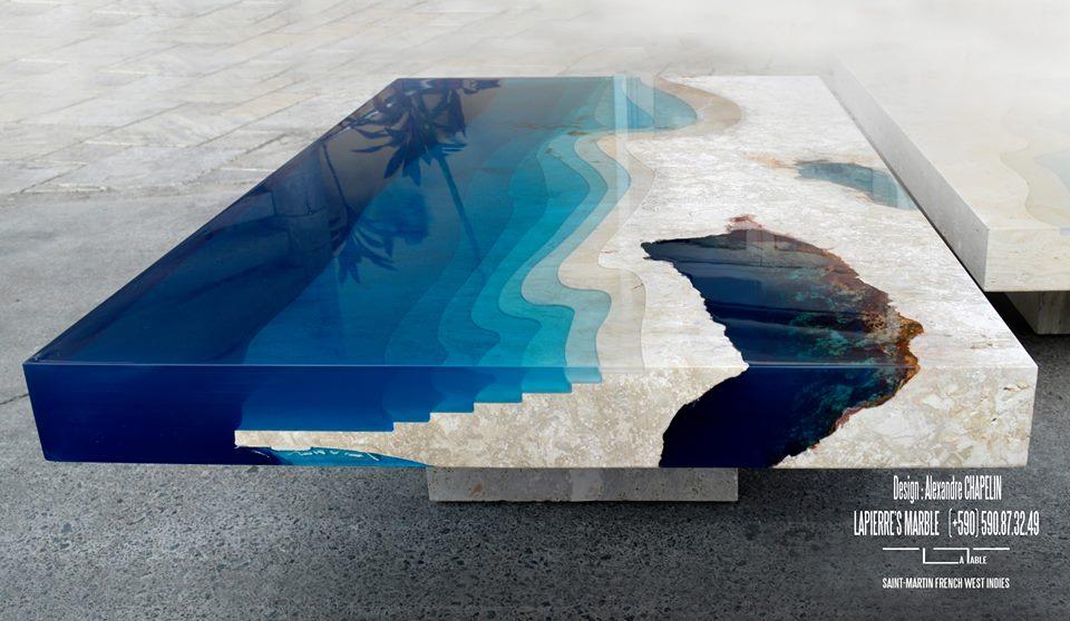 Дизайнерские кофейные столики «Лагуна» Александра Шапелина
