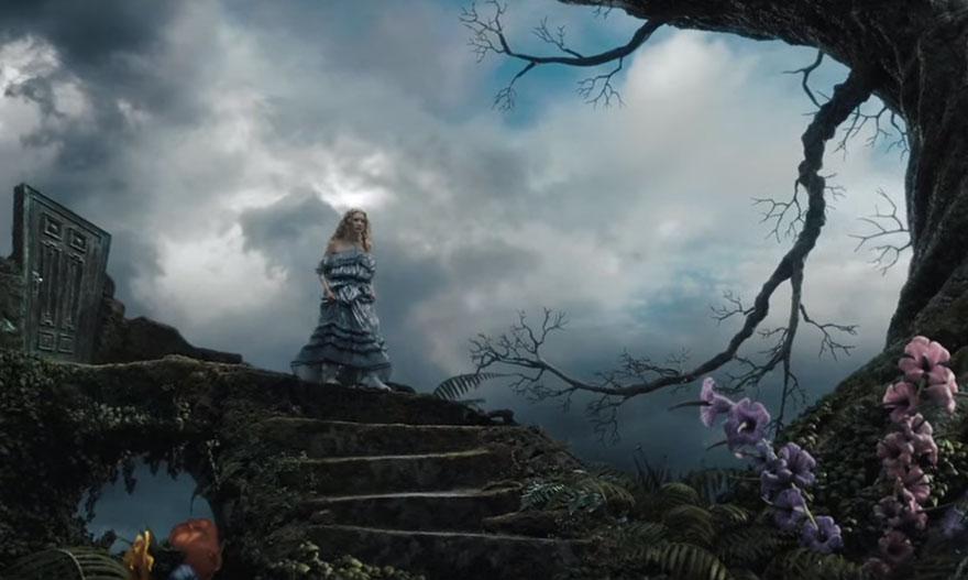 Алиса в стране чудес, кадры из фильма после постпродакшена
