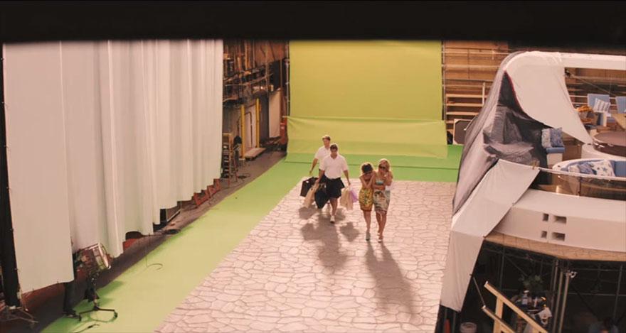 Волк с Уолл-стрит, кадры из фильма до постпродакшена