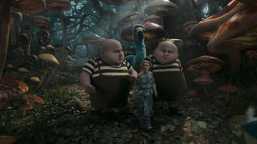 Алиса в Стране чудес, кадр из фильма после постпродакшена