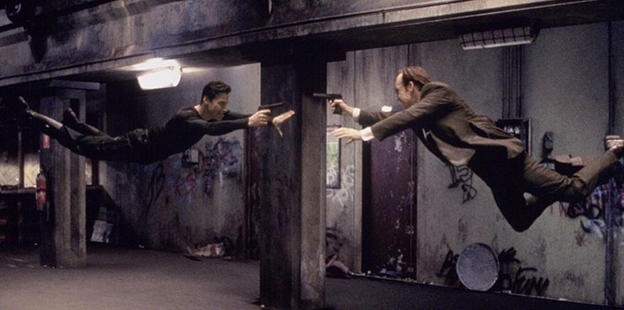 Матрица, кадры из фильма после постпродакшена