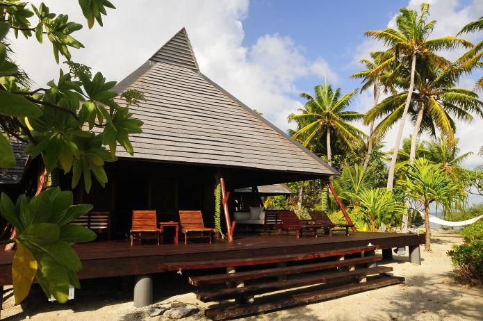 Бунгало на острове Моту Тета, Французская Полинезия