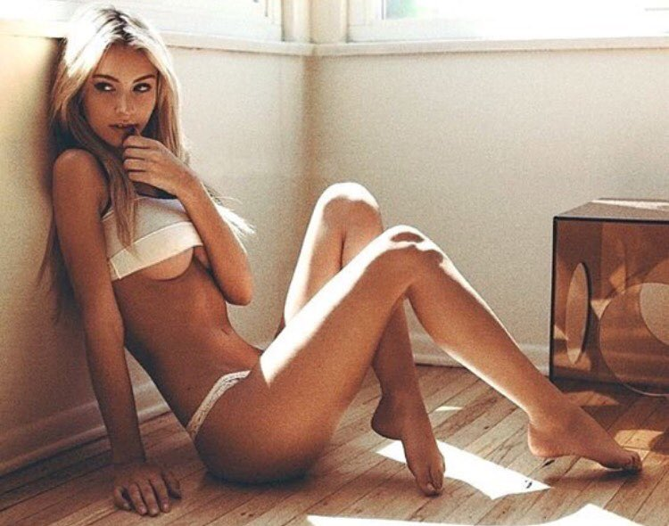 Lingerie-clad model Bryana Holly
