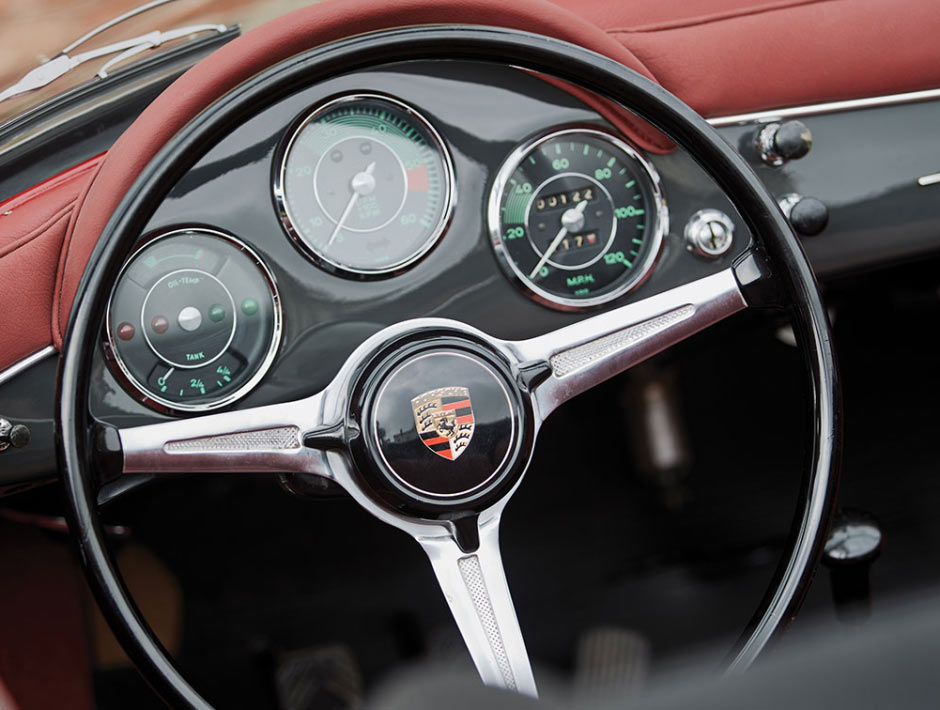 Руль и приборная панель Porsche 356B 1600S Roadster