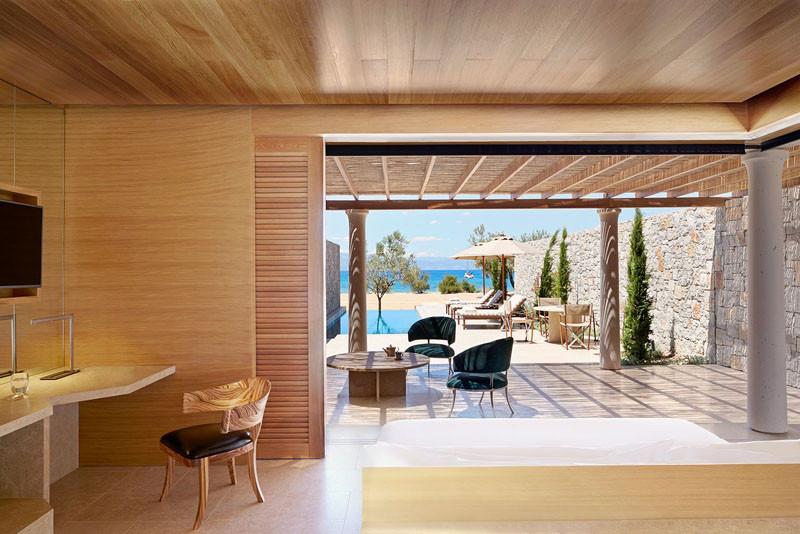 Amanzoe Hotel. Poros Island, Greece