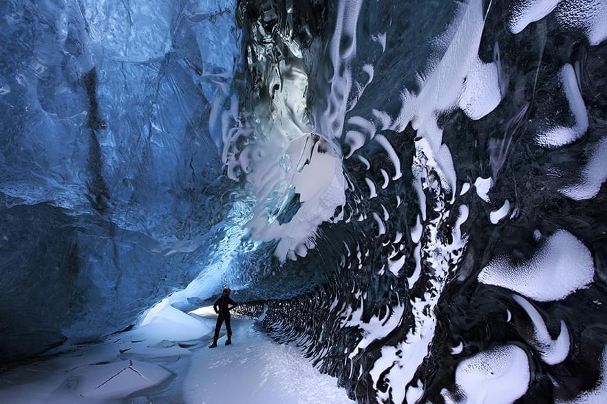 Ледяные пещеры Исландии, 15 фото. Crystal Ice Cave, Iceland