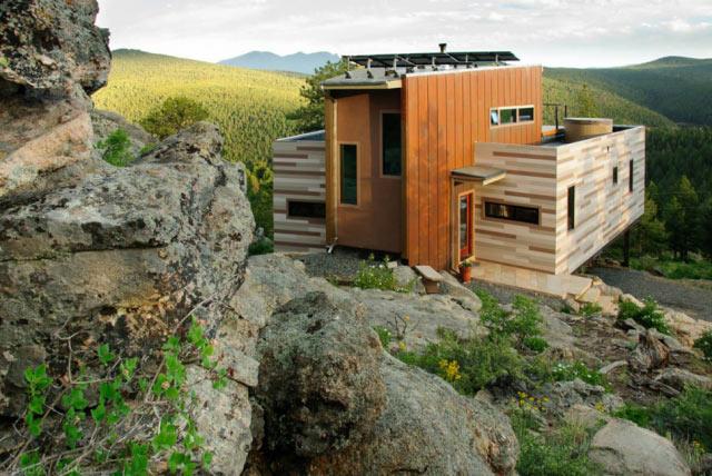 Домик на скалах в Колорадо