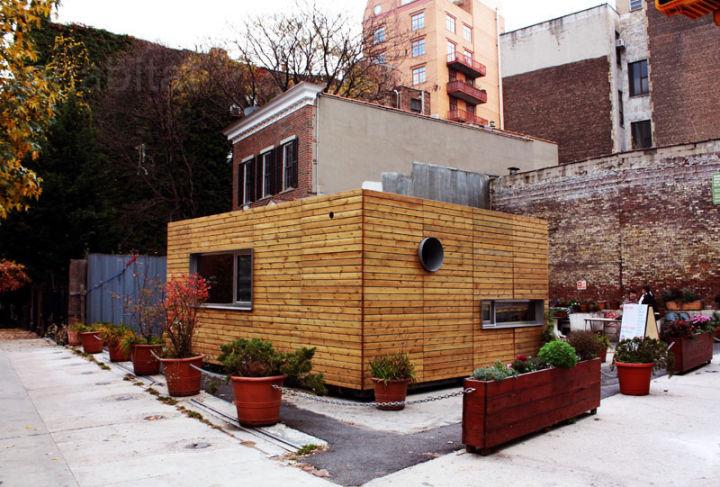Транспортный контейнер трансформировался в городской дом