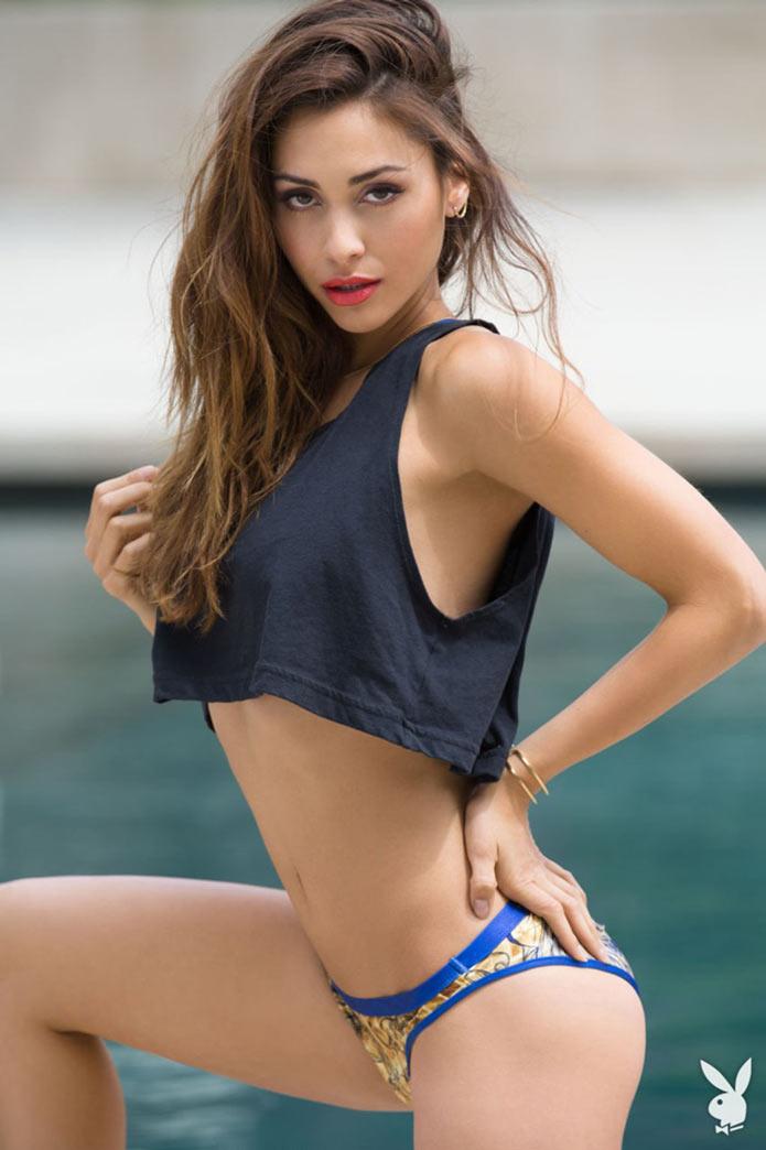 Линдси Морган в бикини для журнала Playboy